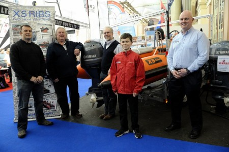 XS 500 Eric Twiname 30 Boat Hand Over RYA Dinghy Show 2014